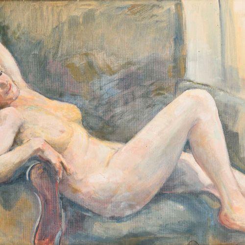 ZDICHINEC, Bernhard (1882 Wien 1968 Rodaun). Zdichinec, Bernhard: Liegender Akt.…