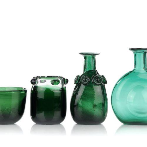 Trois vases et un bol. Volkhard Precht, Lauscha. 1977/1983. Volkhard Precht 1930…