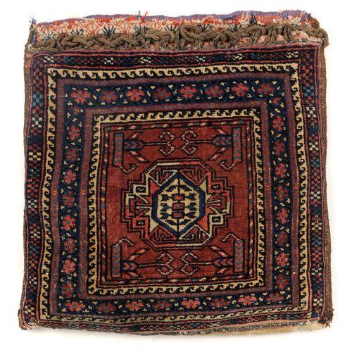 Sac avec coussin intérieur. Gotschan, en Perse. Circa 1900. Laine sur laine, poi…