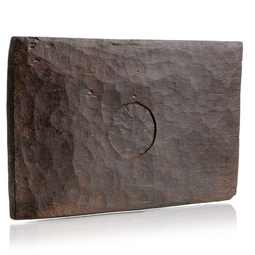 Orakelbrett. Wohl Yoruba, Nigeria. 20. Jh. Holz, geschnitzt und dunkelbraun gesc…