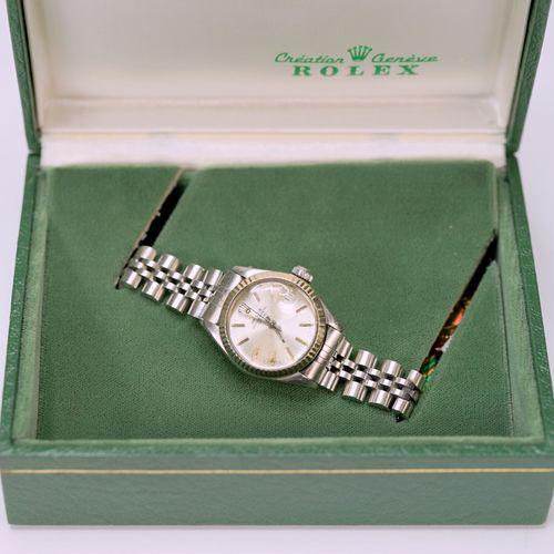 Rolex, Date Montre bracelet pour femme Rolex Oyster Perpetual Date en acier inox…