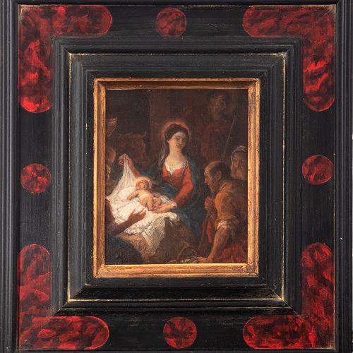 Escuela flamenca del siglo XVIII. Seguidor de Anton Van Dyck. Adoración de los p…
