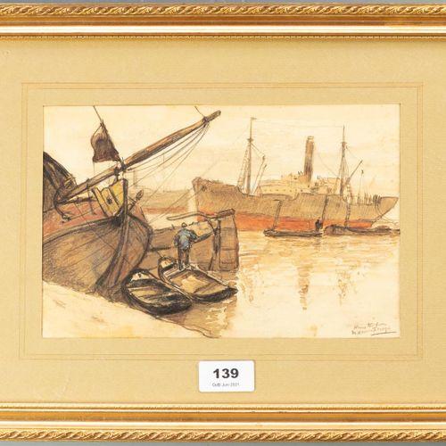 Marie Henri MACKENZIE (1878 1961) Marie Henri Mackenzie (1878 1961)  Le port d'A…