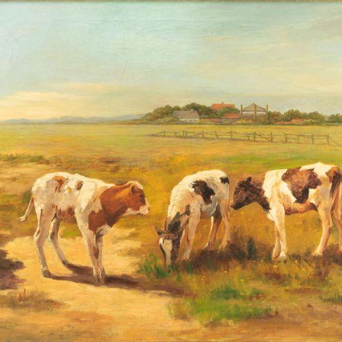 Fedor van Kregten (1871 1937) Fedor van Kregten (1871 1937)  Veaux au pâturage, …