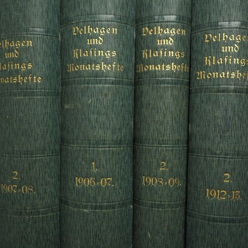Belhagen + Klasings monthly issues, 4 volumes numéros mensuels de Belhagen + Kla…