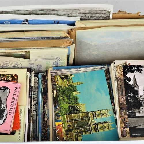 Large convolute postcards Grandes cartes postales en forme de spirale   composée…