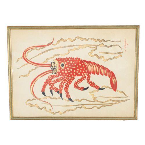 CARLO RAVAGNAN (1911) Lot von fünf Aquarellen von Tieren  1930  cm 50x36  signie…