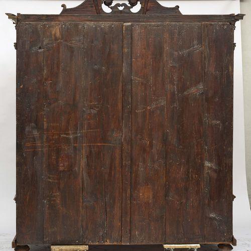 Cabinet Allemagne du Sud (Mainfranken ?), milieu du XVIIIe siècle. Placage de no…