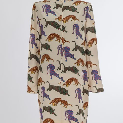 Kleid Stella McCartney Robe Stella McCartney, London Silk, crème, imprimé léopar…