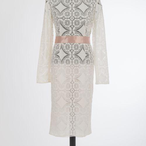 Kleid Dolce & Gabbana Robe Dolce & Gabbana, Milan Dentelle de coton, blanc crème…