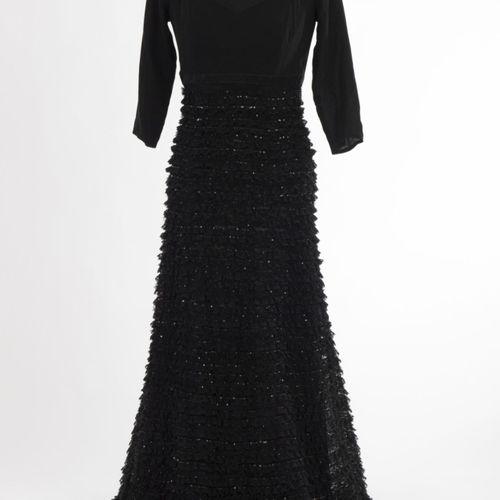 Abendkleid Rena Lange Robe de soirée Rena Lange, Munich Soie, noir, jupe en tull…