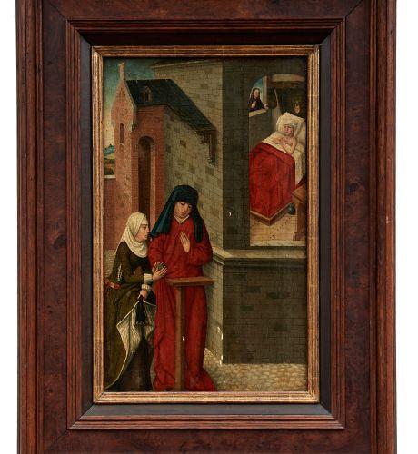 Gotisches Tafelbild mit Heilungswunder Jesu, Schwäbischer Meister des 15. Jahrhu…