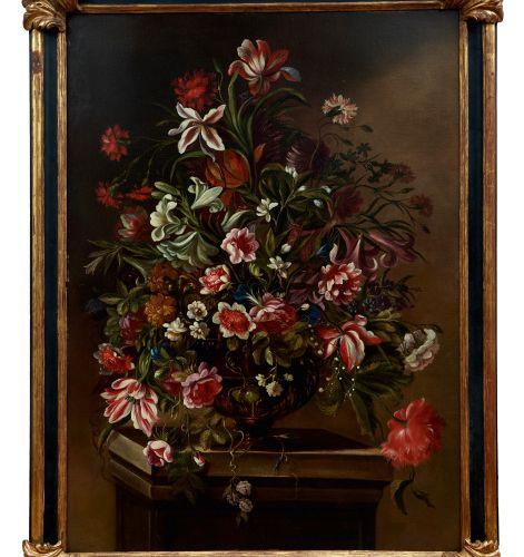 Blumenstillleben, Italienischer Meister des 18. Jahrhunderts Nature morte floral…