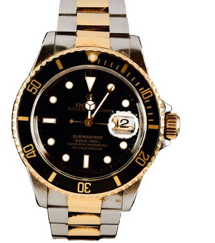 Rolex Herrenarmbanduhr, Modell ''Oyster Perpetual Submariner Date'' Rolex Herren…