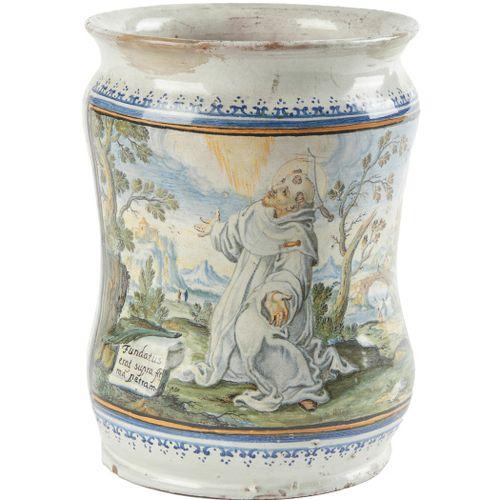 Albarello mit dem heiligen Petrus Martyr Neapel, Francesco Antonio, averio Grue,…