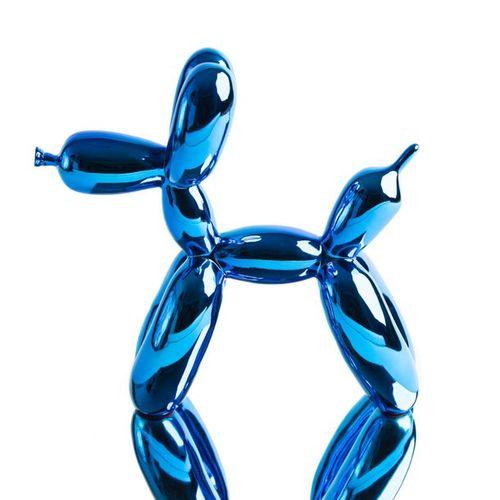 JEFF KOONS Jeff Koons (d'après)     Grand Ballon Dog   Résine chromée, vient ave…