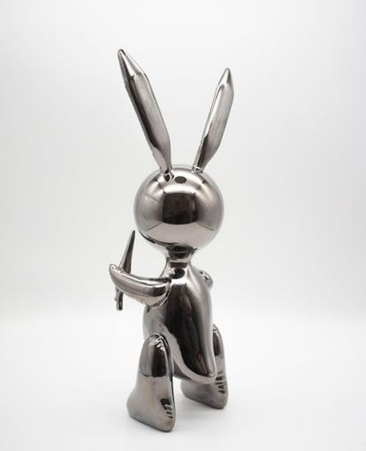 JEFF KOONS Editions Studio  Large Black Rabbit    Sculpture in cold cast resin i…