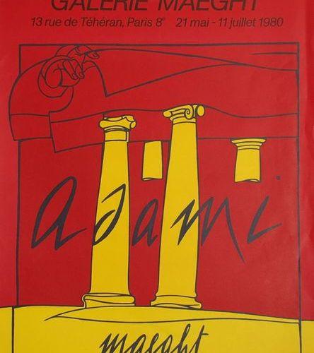 Valerio Adami Original poster, 1980  Format : 79 x 58,5 cm  Unsigned & not numbe…