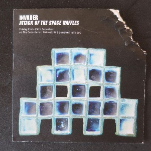 INVADER Waffle Baked in Space  5 9/10 × 8 3/10 × 1 1/5 in  15 × 21 × 3 cm  Editi…
