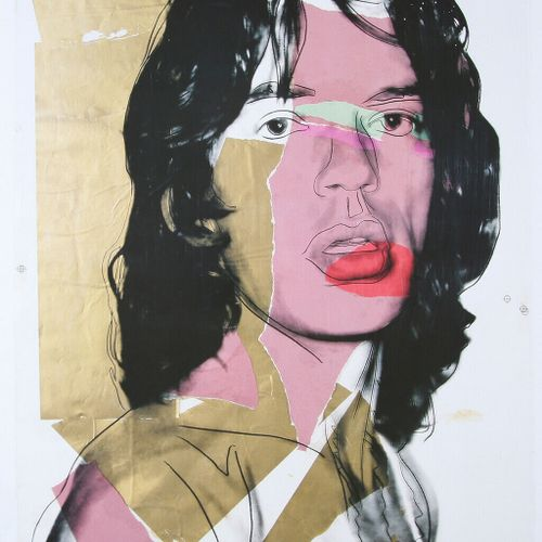 ANDY WARHOL Andy Warhol (1928 1987) (based on)  Mick Jagger, 2010    Published b…