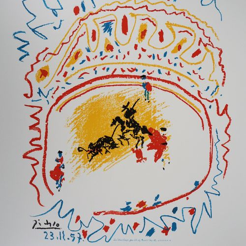 Pablo PICASSO Pablo PICASSO (after)  Bullfighting    Lithography on poster paper…