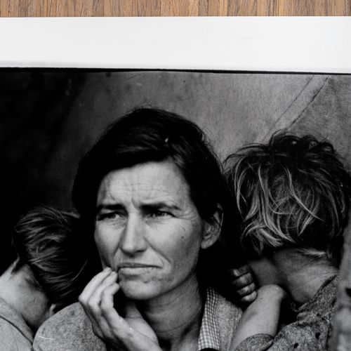 DOROTHEA LANGE Migrant Mother, 1936    This is a silver gelatin print, numbered …