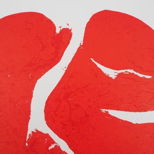 Simon HANTAI Simon HANTAI (after)  Composition red    Original Lithograph  Print…
