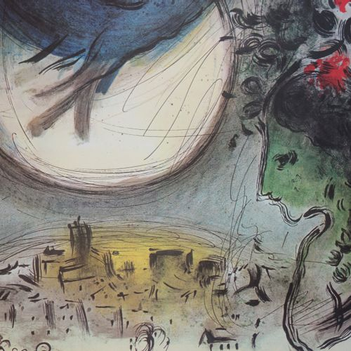Marc Chagall Marc CHAGALL (after)  Blue Dove    Original period poster  Second e…