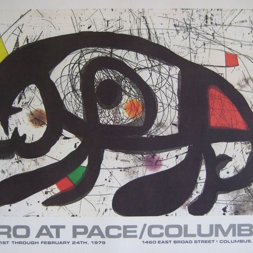 Joan Miro Joan Miro (1893 1983)  Poster for the AT PACE exhibition, Columbus, Oh…