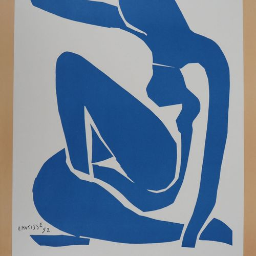Henri MATISSE Henri Matisse (after)  Graceful Blue Nude    Lithography on poster…