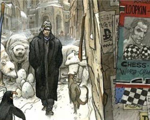 Enki BILAL Enki Bilal  Chessboxing    Poster art edition  50x100 cm  Excellent c…