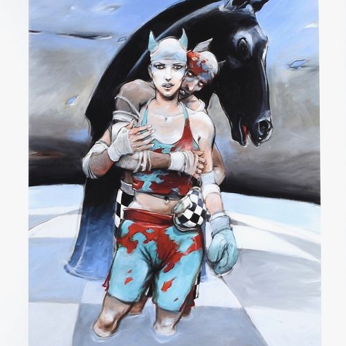 Enki BILAL Enki Bilal  Chessboxing    Pigment print print made in the Frank Bord…