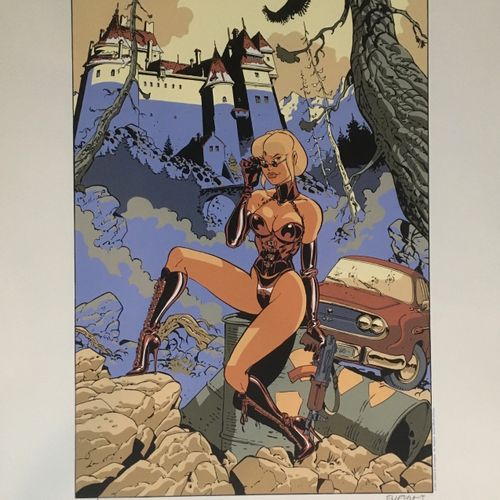 Félix MEYNET Félix Meynet   Tatian K.,     Silkscreen print signed   Dimensions:…