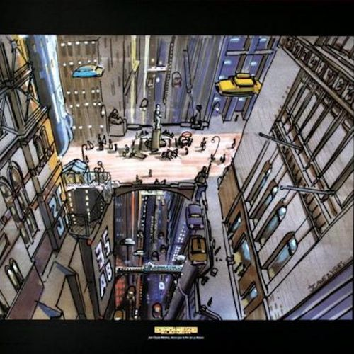 MÉZIÈRES Mezieres  The Fifth Element: New York    Poster art edition  50x60 cm  …
