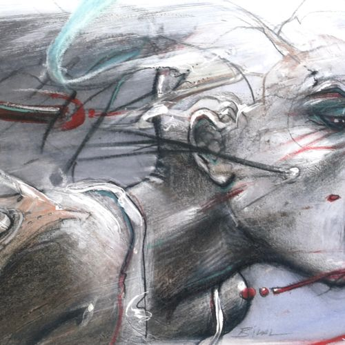 Enki BILAL Enki Bilal  Sacha     Poster art edition   Printed on paper FREDIGONI…