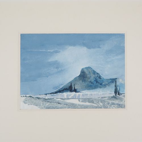 Lily Masson Lily MASSON  Le Baou bleu, 1985    Tempering and original bonding  S…