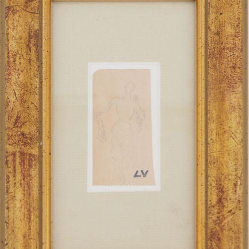 Louis VALTAT Louis VALTAT  Feminine silhouette    Original pencil drawing  Signe…