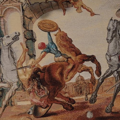Salvador DALI Salvador DALI (1904 1989)(after)  Dandelion Battle    Woven Jacqua…