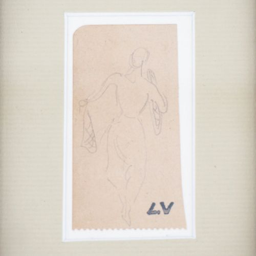 Louis VALTAT Louis VALTAT  Feminine silhouette    Original pencil drawing  Signe…