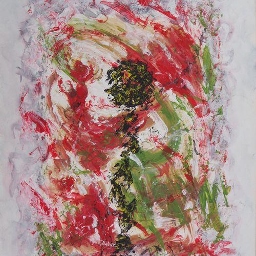 Michel GUIGNARD Michel Guignard  Character in a fawn landscape in pink, 2000    …