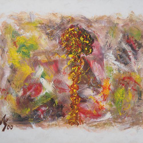 Michel GUIGNARD Michel Guignard  Yellow Peony in a Fawn Landscape, 2000    Acryl…