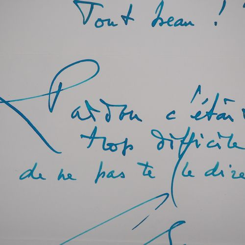 Georges MATHIEU Georges MATHIEU  Tout beau, c. 1991    Autograph calligraphy in …