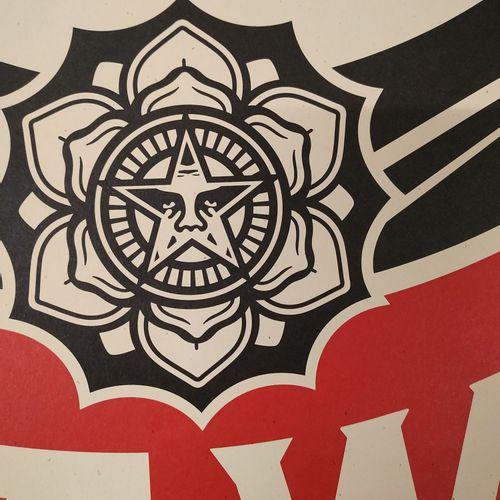 Shepard FAIREY Shepard Fairey (OBEY)  Make Art Not War    Offset printing on cre…