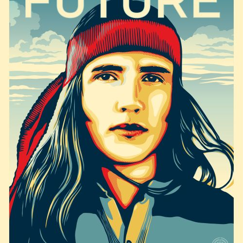Shepard FAIREY Shepard Fairey aka Obey Giant (USA, 1970)  We the future (are ear…