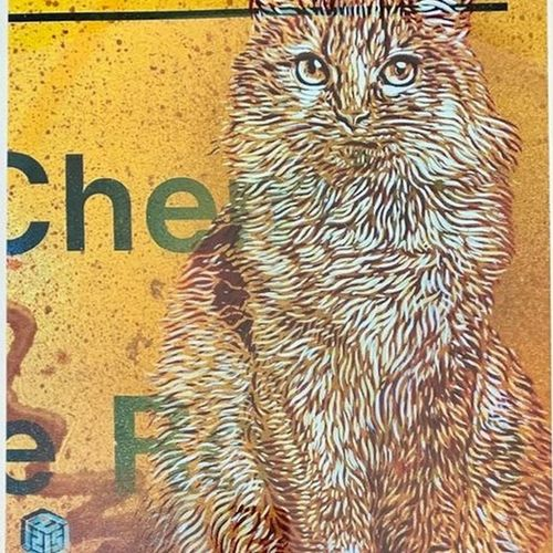C215 C215  Kitty, 2020    Digital printing on Canson paper.  Signed by C215 E.A.…