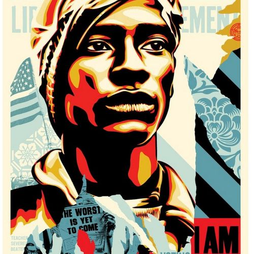Shepard FAIREY Shepard FAIREY (Obey)  Voting rights are human rights    Offset p…