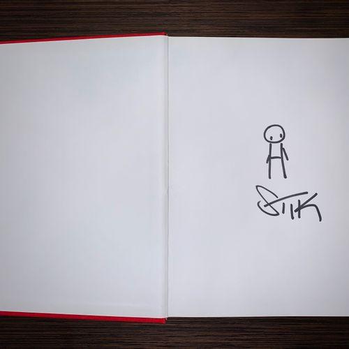 STIK Stik  Doodle, 2018     Drawing on paper   Hand signed   Inside the Stik boo…