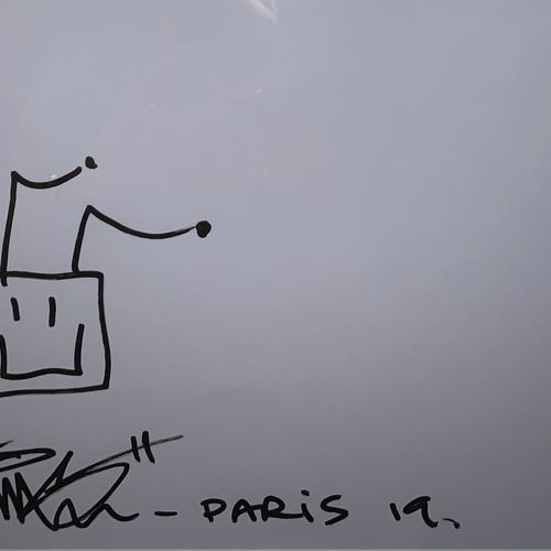 Paul Insect Paul Insect (PINS)  Happy Robot, 2019      Drawing signed, dated and…