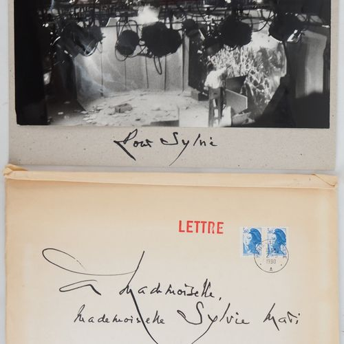 "Georges MATHIEU Georges MATHIEU  Handwritten letter, 1990    Dedicated photo ""Fo…"