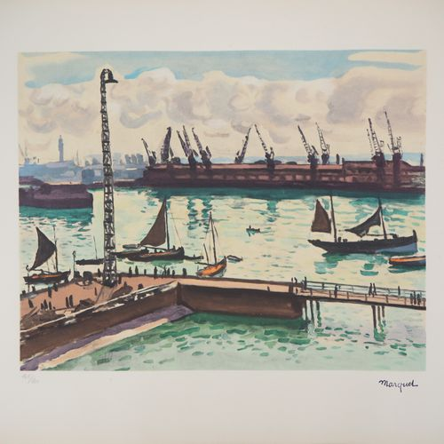 Albert Marquet Albert MARQUET  Normandy, Le Havre    Lithograph  Signed with the…